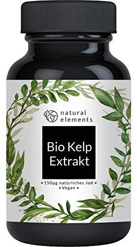 Bio Kelp Extrakt (Natürliches Jod) - Einführungspreis - 365 Tabletten mit je 150µg Jod aus Bio-Braunalgen - Ohne unerwünschte Zusätze - Hochdosiert, vegan und hergestellt in Deutschland