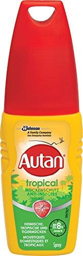 Autan Insektenschutz-Pumpspray für Körper und Gesicht, Zum Schutz vor heimischen und tropischen Mücken, 100 ml, Tropical Pumpspray