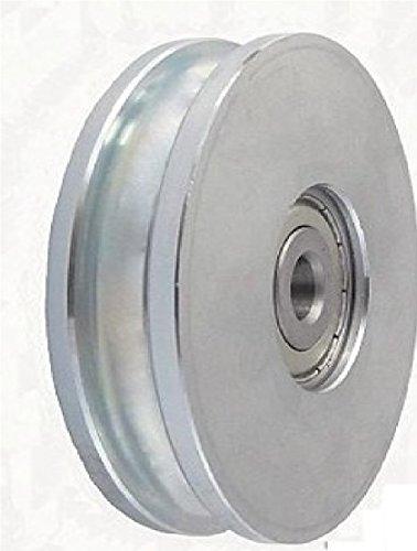 Zabi Seilrolle 79 mm fur Seil 8 mm Metallprofilrollen d=79mm/8 mit Lagerung