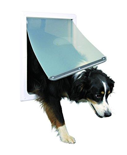 Trixie Pet Products 2-Wege-Tür Hund, Medium - Extra Large, weiß