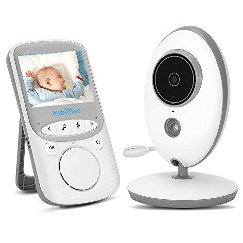 """Babyphone 2.4 GHz Baby monitor 2.4""""HDDigitalVideo BabykameraMitVOXFunktionWirelessWeiß"""