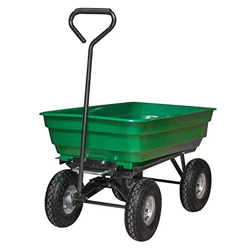 LeMeiZhiJia Gartenkarre Bollerwagen Gartenwagen Handwagen Kippfunktion Kippwagen Transportwagen für Garten Baustelle usw (Max 300 kg)