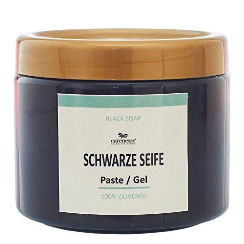 Carenesse Savon Noir, Schwarze Seifen Paste aus reinem Olivenöl, 400 ml