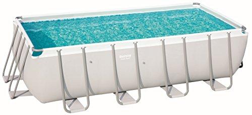 Bestway Power Steel Pool Ersatzteil, rechteckig, grau, 488 x 244 x 122 cm
