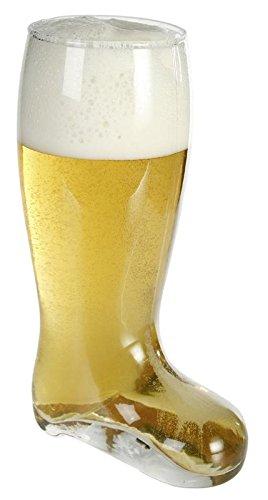 Bierstiefel XXL - aus Glas, Fassungsvermögen: 800 ml.