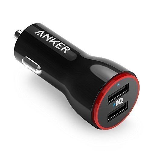 Anker PowerDrive 2 Auto Ladegerät 24W / 4.8A 2-Port USB Kfz Ladegerät Power IQ für iPhone 8 / 8 Plus/ iPhone X, iPad Air / Mini, Samsung Galaxy / Note, Nexus, HTC, LG, Tablets, Bluetooth Geräten, Powerbank und mehr