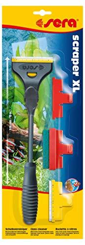 sera 44500 scraper XL der Aquarien Scheibenreiniger - der Klingenreiniger loest Algen und andere Schmutzpartikel von Aquarienscheiben