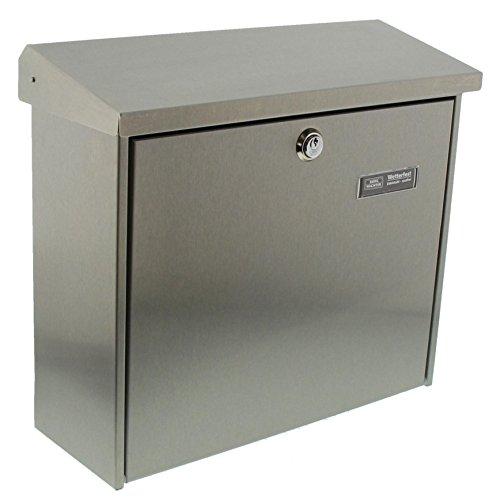 BURG-WÄCHTER, Briefkasten mit Öffnungsstopp, A4 Einwurf-Format, Edelstahl, Comfort 3913 Ni