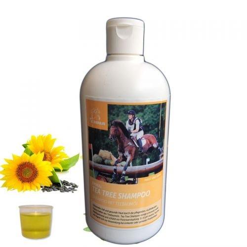 Pferdeshampoo I Pferdepflege mit Teebaum-Öl für Fell & Mähne, Schweif I ph-neutral & mild I Premium Pferdepflege I 500 ML