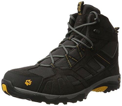 Jack Wolfskin Vojo Hike Mid Texapore 4011361 Herren Wanderschuhe, schwarz (burly yellow 3800), 44.5