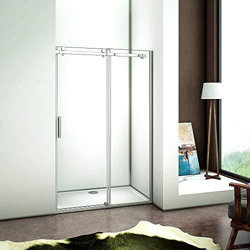 120cm Verstellbereich von 116-120cm Duschabtrennung Nischentür Dusche aus 6mm Sicherheitsglas T2