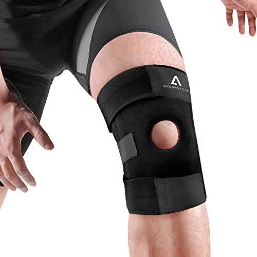 Anoopsyche Atmungsaktiver Kniebandage Verletzung des Meniskus und weiteren Gelenkbeschwerden, mit Klettverschluss Einstellbare Universalgröße Kniestütze, passt rechts und Links, Unisex