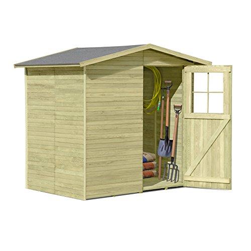 Gerätehaus aus Holz Modell Frankfurt 180 x 145 cm von Gartenpirat
