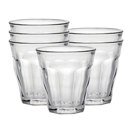 Duralex Picardie Wasserglas 160ml, ohne Füllstrich, 6 Stück