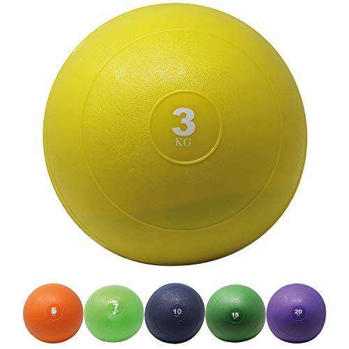 POWRX Slamball I Medizinball 3-20 kg I Slam Ball versch. Farben (3 kg/Gelb)