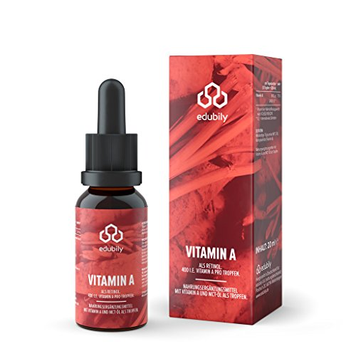 Vitamin A Tropfen Als Retinol • 400 I.E. Retinylpalmitat Pro Tropfen - 2000 I.E. Pro Tag • In MCT-Öl • 620 Tropfen