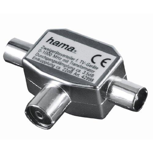 Hama Antennen-Verteiler (Koax-Kupplung - 3 Koax-Stecker) (Amazon Frustfreie Verpackung)