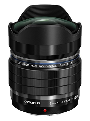 Olympus M.Zuiko Digital ED 8 mm 1:1.8 Fisheye Pro Objektiv für Micro Four Thirds Objektivbajonett schwarz
