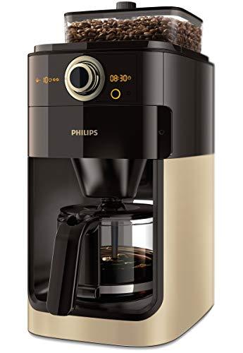 Philips Grind und Brew HD7768/90 FilterKaffeemaschine (Mahlwerk, Timerfunktion) champagner/schwarz