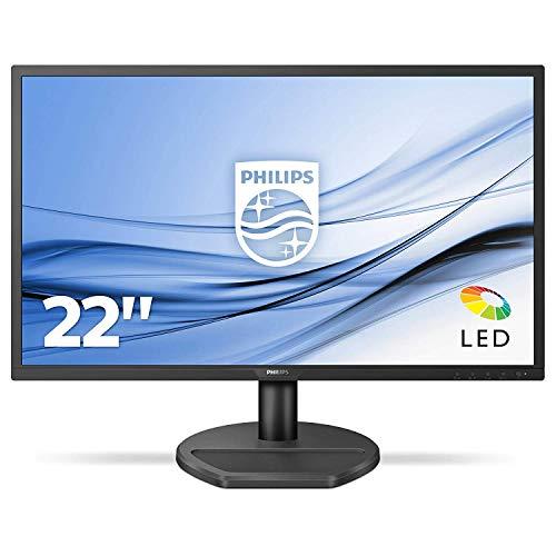 Philips 221S8LDAB/00 54 cm (21,5 Zoll) Monitor (VGA, DVI, HDMI, 1ms Reaktionszeit, 1920 x 108) schwarz