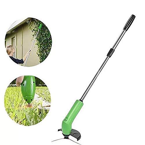 ZYJFP Elektrischer Mini-Rasenmäher, Hand Schnurlose Unkraut Trimmer, Suitble Für Kleine Familie Garten Begrünung, Grün