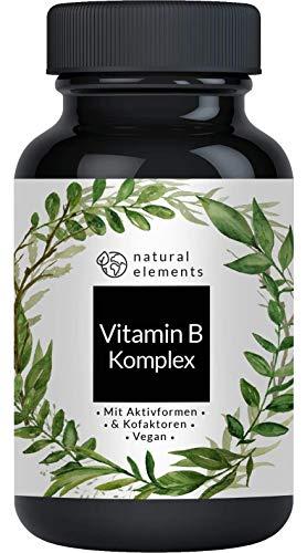 Vitamin B Komplex - Einführungspreis - 180 Tabletten - Premium: Mit Bio-Aktivformen, Quatrefolic & Kofaktoren – Hochdosiert, vegan und hergestellt in Deutschland