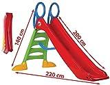 thorberg Rutsche Kinderrutsche Gartenrutsche groß 200cm Rutschbahn (EU Ware, DE Garantie)