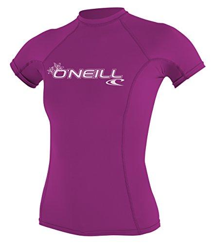 O'Neill Wetsuits Damen Uv Schutz wms basic skins S/S crew Rash Vest, Rosa, M