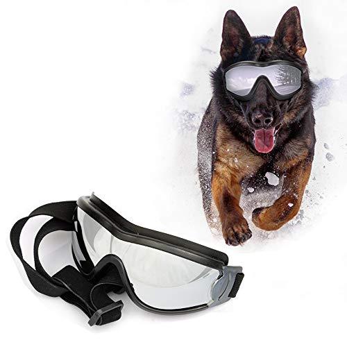SymbolLife Sonnenbrille für Hunde Hundebrille Hundesonnenbrille Brille für Groß/Mittel Hund Wasserdicht Augenschutz UV-Schutz Anti-Fog Verstellbar