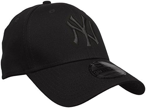 New Era Herren Baseball Cap Mütze M/LB Basic NY Yankees 39Thirty Stretch Back, Black/ Black, L/XL, 10145637