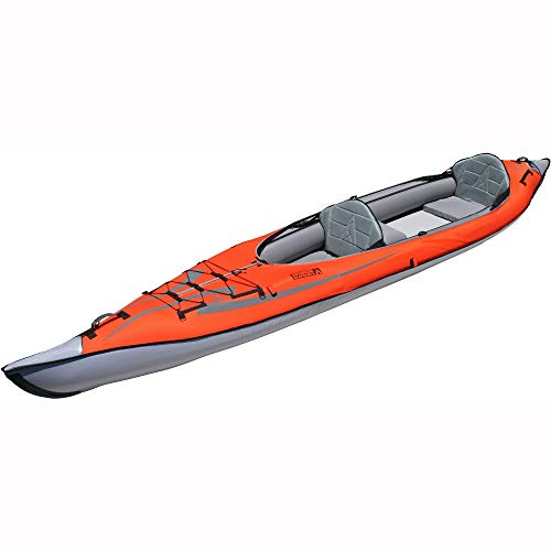 ADVANCED ELEMENTS Watersport AdvancedFrame Cabrio Elite Aufblasbares Kajak, Rot/Grau, 460 cm
