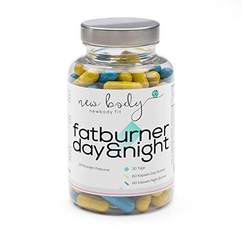 Fatburner Day&Night - 24 Stunden Fatburner zum Ankurbeln Ihres Fett-Stoffwechsels - 100 % natürlich, hoch dosiert und effizient - 30 Tage Paket für Fettverbrennung und Fettreduktion