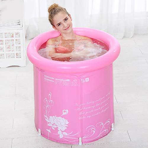 Tinksky erwachsene faltende Badewanne aufblasbare tragbare Kunststoff-Badewanne super-dick