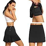 Damen Rock Kurz Culottes Tennisrock Hose mit Taschen für Frauen Mädchen Sport