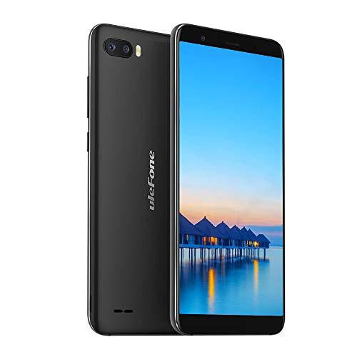 Ulefone S1 Smartphone (13.97 cm (5.5 Zoll) Metallrahmen, 8MP+5MP+5MP Kamera, 1GB RAM, 8GB interner Speicher, Android 8.1 Go Edition, Dual SIM Handy unter 100, Face ID) Schwarz