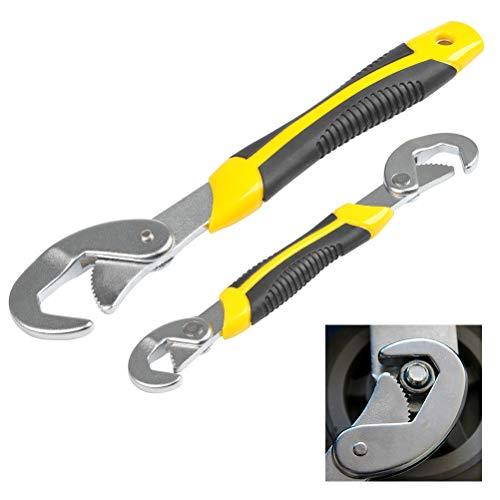 QLOUNI Multischlüssel 2-tlg Universal Werkzeug Schlüssel 9~32mm Maulschlüssel Set Schnell Verstellbarer Schraubenschlüssel