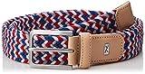 Brax Herren HI FLEX elastischer Flechtgürtel Gürtel, Mehrfarbig (Red/Navy 44), 676 (Herstellergröße: 100)