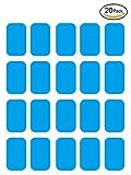 Openuye EMS Gel Pad, Abs Elektrischer Muskelstimulation Training Gear Massage Gerät Ersatz Gel Tabelle Zubehör 20 Gel Blatt für Gel-Pad