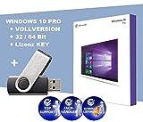 WINDOWS 10 PRO - Lizenz KEY - 32/64 Bit Vollversion + 32 GB USB Stick (bootfähig) / Microsoft Windows 10 Professional - Original Lizenzschlüssel