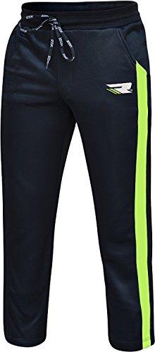 RDX Traininghose Herren Jogginghose Sporthose Praesentationshose Fitnesshose Freizeithose Haushose Laufhose,Schwarz/Grün,L