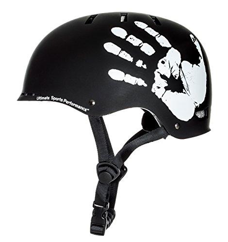 Sport DirectTM BMX-Skate Erwachsene: 'Die Hand' Erwachsene: NB: 55-59 cm Cycle schwarz Fahrrad Helm CE EN1078 TÜV Zulassungen