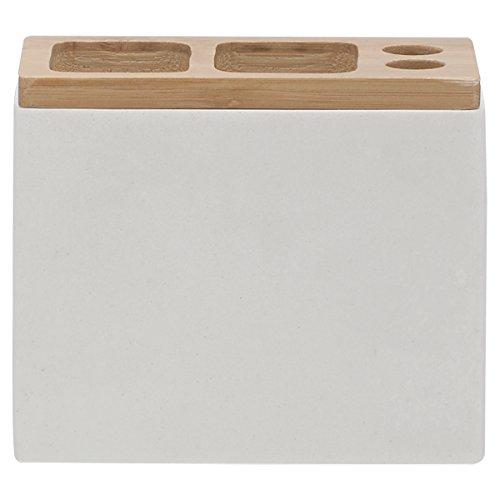 Sealskin 361910310 Zahnbürstenhalter Grace Polyresin Badaccessoire, Plastik, 6 x 12,3 x 10,2 cm, weiß