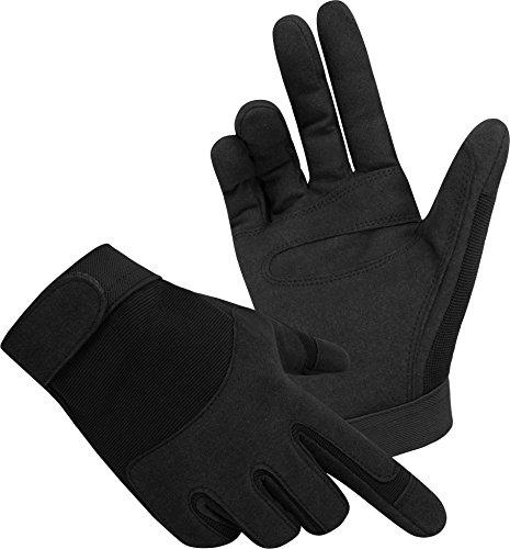 Tactical Army Gloves Herrenhandschuhe aus Spezialkunstleder Farbe Schwarz Größe XL