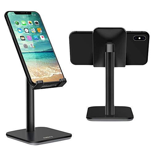 NULAXY Verstellbare Handy Ständer, Multi-Angel Phone Stand : Tisch Handy Halterung für Phone Xs Max, Xs, XR, X, 8, 7, 6 Plus, SE, 5, Samsung S10 S9 S8 S7 S6 S5, Huawei, andere Smartphone - Schwarz
