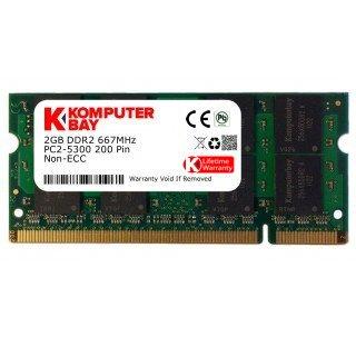 Komputerbay 2GB DDR2 667MHz PC2-5300 PC2-5400 (200 PIN) SODIMM Laptop-Speicher
