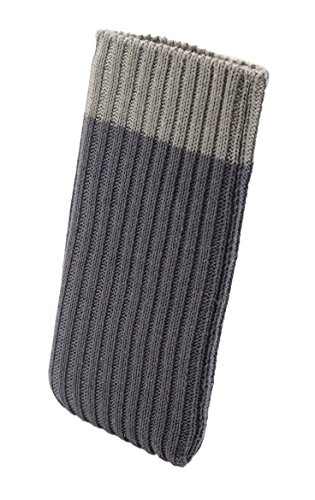 iPhone 6 / 6s / 7 Handysocke Strick-Tasche in grau Original smartec24 Rundumschutz dank dicker dicht gestrickter Wolle passt sich dank Strech perfekt dem jeweiligen Smartphone an