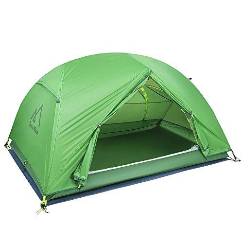 Zelt, Terra Hiker 2 Personen Kuppelzelt, Wasserdicht Campingzelt, 4000 Wassersäule, Vielseitige Verwendung, Kann auch als Moskitonetz und Sonnenschutz