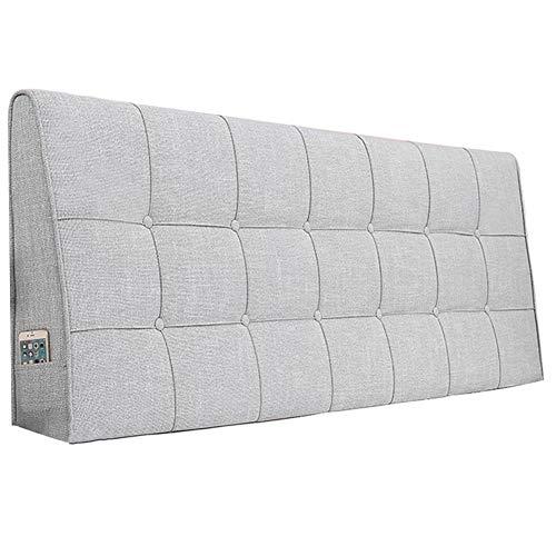 WENZHE Kopfteil Kissen Für Betten Bett Rückenkissen Rückenlehne Bettrückwand Baumwolle Und Leinen Soft Case Zuhause Schlafzimmer Taillenpolster Waschbar, 8 Farben (Color : A, Size : 160x62cm)