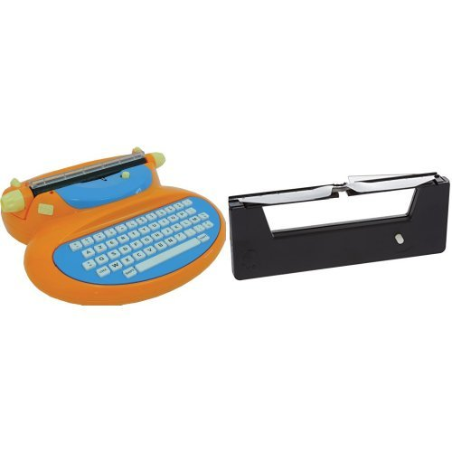 MEHANO E188A elektronische Schreibmaschine, Orange mit extra Band E113