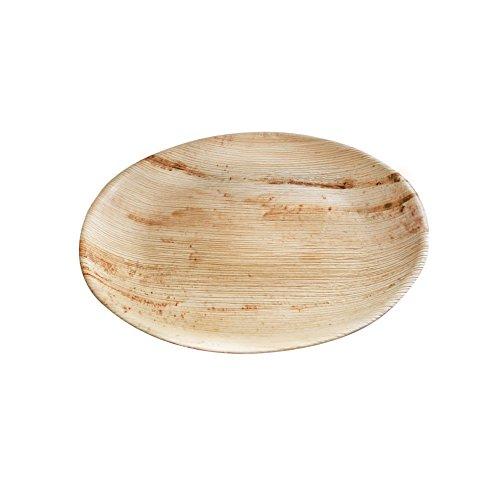 Hochwertiges Palmblattgeschirr von kaufdichgrün I 25 Stück Palmblatt Teller rund Ø 23 cm I Bio Einweggeschirr biologisch abbaubar Partygeschirr Einmalgeschirr Wegwerfgeschirr